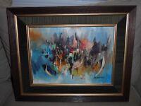 "Original NK ""Nikit"" Kampan Oil Painting - Estate Find"