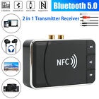 Bluetooth Receiver Wireless AUX NFC to 2 RCA Transmitter TF Card U Disk F1