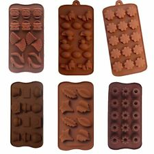 Silicone Candy Chocolate Soap Molds Baking Love Heart Flower I love You SeaShell