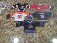 2002-03 PACIFIC MINI SWEATER JERSEY NHL 5 DIF W/FLYERS LA KINGS SABERS FORSBERG