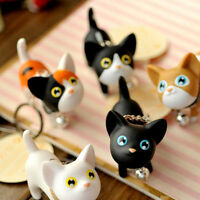 Lovely Bag Keychain Kitten Cat Key Chain Ring Bell Handbag Car Pendant Keyring