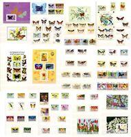 Sellos Mariposas años entre 1966 a 1992, sellos nuevos butterflies stamps