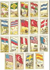 E15 American Caramel Flag Candy Gum Cards - 19 Different - Most Higher Grade