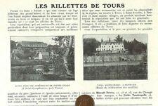 TOURS (37) LES RILLETTES / MAISON MIRAULT / ADP 1923