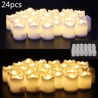New 24PCS LED Tea Light Candles Battery Flameless Dating Wedding Decoration