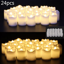 New 24PCS LED Tea Light Candles Battery Flameless Dating Wedding Decoration