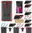 RUGGED TRI-SHIELD SKIN HARD CASE COVER WITH STAND + SCREEN PROTECTOR FOR LG V10