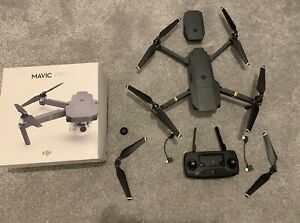 dji mavic pro in original box with extra battery and polar pro filter