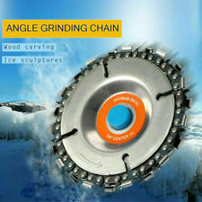 "4"" Angle Grinder Disc Saw Blade Chain Saw for Carving Wood Plastic 22 Tooth"