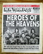 <1986 display newspaper SPACE SHUTTLE Challenger EXPLODES 7 Astronauts Dead
