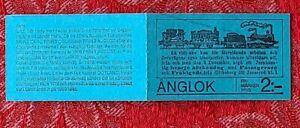 Sweden 1975 Swedish Steam Locomotives Booklet - 6 Stamps MNH