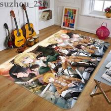 Attack on Titan Living Room Non-Slip Carpet Decor Flannel Floor Mat Area Rug USA