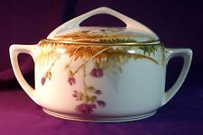 HAND PAINTED ROSENTHAL DONATELLO VEGGIE TUREEN w/ THISTLE FLOWERS