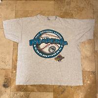 Vintage Florida Marlins T-Shirt 1997 World Series Champions Size XL 90s MLB