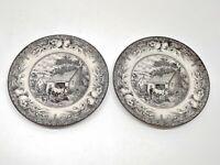 "Royal Stafford The Blacksmith's Forge SET OF 2 Salad Plates 8 3/8"""