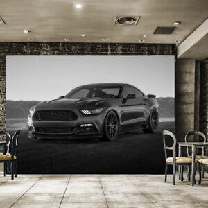 Fototapete Vlies und Papier Tapete Usa Auto Sportwagen Car Ford Mustang Wagen