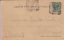 PONTE A POPPI-5 c su cartolina per Castelfiorentino 29.6.1907
