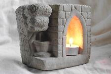 Stimmungsvoller Steintempel für Teelichter Windlicht Landhausstil Laterne /Bru