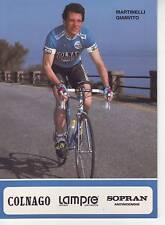 CYCLISME carte MARTINELLI GIANVITO équipe LAMPRE 1991 format 12 x 16,5 cm