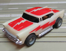 For H0 Slotcar Racing Model Railway 57 Chevy Niteglow with Tyco Chassis