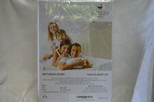 Audley Home 100% Egyptian Cotton 800TC 3 Piece TWIN XL Size Sheet Set WHITE NIP