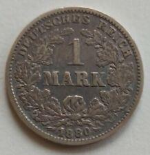 Kaiserreich Silbermünze  1 Mark 1880 G