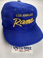Sports Specialties Los Angeles Rams VINTAGE Snapback Hat Vtg Rare Script NFL LA