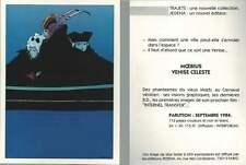 MOEBIUS . CARTE POSTALE PROMO POUR LA SORTIE DE VENISE CÉLESTE . AEDENA . 1984