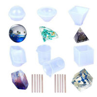 17x/set silicones mould resin craft diy epoxy resin molds for diy paperweightsBH