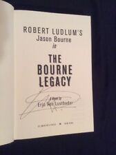 SIGNED by Eric Van Lustbader Robert Ludlum's The Bourne Legacy HC 1/1 +PIC