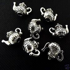 5 Tibetan Silver 3d Teapot  Pendant Charms Alice In Wonderland