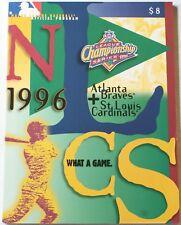 1996 NLCS Atlanta Braves vs. St. Louis Cardinals Program Maddux Smith