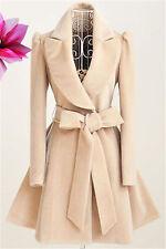 Women's Winter Warm Long Wool Jacket Trench Coat Outwear Military Overcoat Parka