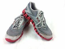Men's Reebok Zigtech red/gray athletic sneakers size 5.5