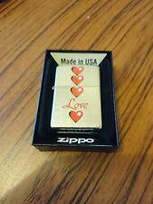 zippo lighter Hearts /love with lifetime garenteed