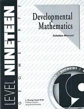 Developmental Math Level 19 Solution Manual