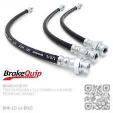 BRAKEQUIP BRAKE HOSE KIT FRONT & REAR [HOLDEN LC-LJ TORANA & GTR-XU1 DISC/DRUM]