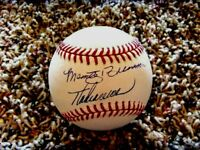 MARTY & THOM BRENNAMAN Show Signed Baseball-comes with cube,card & Show Cert.