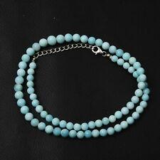 Beauty Opal Beads Necklace, 5-7 MM Beads, Blue Opal Round Shape Necklace RNB-116