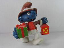 S92- Schlumpf / Smurf 2.0201 Weihnachtsschlumpf mit Laterne / christmas lantern