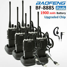 6x BaoFeng Walkie Talkie BF-888S Plus UHF 400-470MHZ 2-Way FM Radio Transceiver