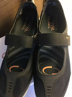 Copper Fit Limitless~Mary Jane Shoes~Size 9, BLACK, Mesh Strap, Support, Cushion