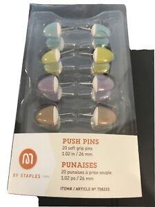 Soft grip office push pins
