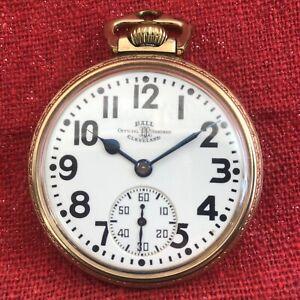 Vintage Ball Hamilton 23 Jewel Pocket Watch in Correct Case