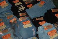 CLASSIC LEVI'S 501 0165 RED TAB BLACK JEANS STRAIGHT LEG HIGH RISE W 29 L 34