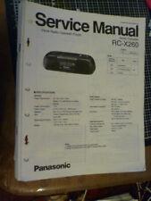 Technics / Panasonic RC-X260  Radio Cassette    Service Manual
