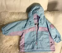 Columbia Jacket Hood Nylon Fleece Lined Waterproof Baby infant 6 months NWOT