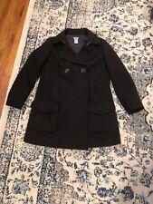 GAP MATERNITY Women's Size XS Wool Blend Black Pea coat NICE