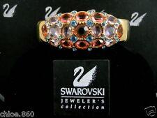 Signed Swarovski Pave' Blue Topaz Crystal Bracelet Nwt Retired Rare