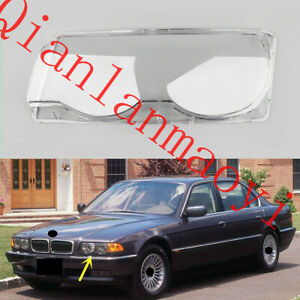 Left Side Lucency Headlight Cover With Glue For BMW E38 7-Series 1998-2001